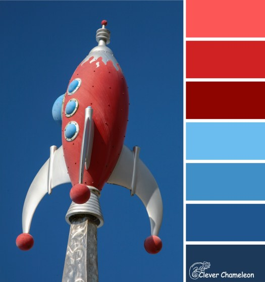 Red Rocket Blue colour scheme from Clever Chameleon