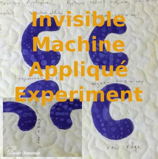 Invisible Machine Appliqué Experiment