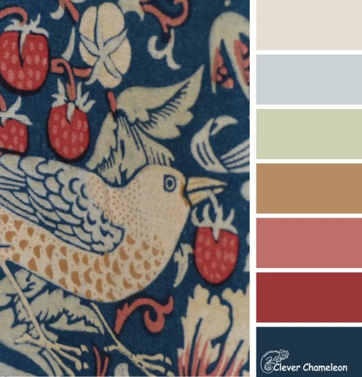 Strawberry Thief colour scheme by Clever Chameleon