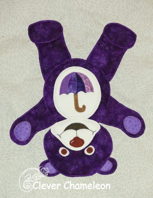 Purple Bear of a Little Bit Silly by Clever Chameleon