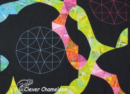 Modern Winding Ways quilt by Clever Chameleon
