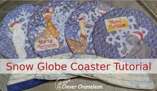 Snow Globe Coaster (Mug Rug) Tutorial from Clever Chameleon