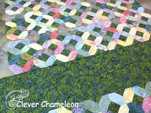 blank panel in garden quilt