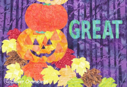 Have a Really Great Fall appliqué pattern at Clever Chameleon