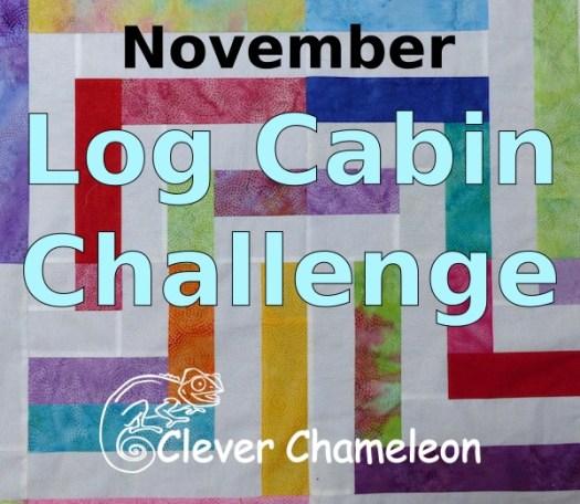 November Log Cabin Quilt Challenge