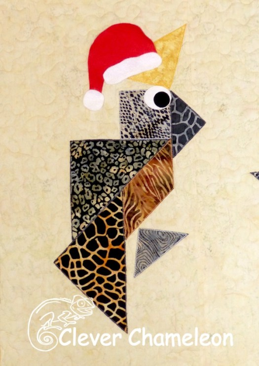Christmas Cockatoo appliqué by Dione of Clever Chameleon Quilting