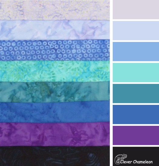 Fabric colours for 2019 at Clever Chameleon Quilting blog
