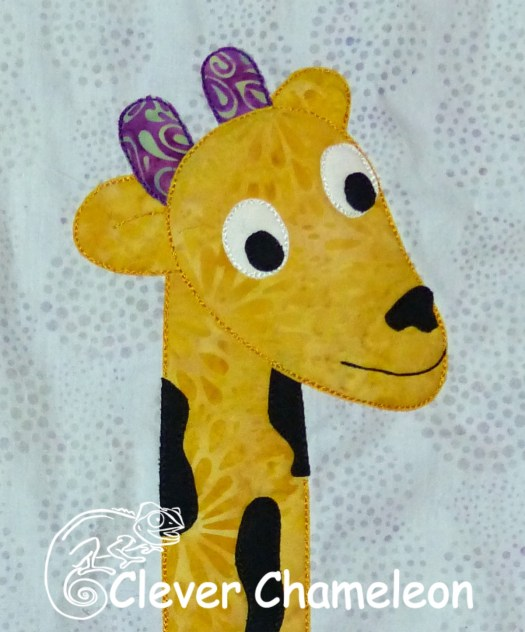 Nifty Neck Giraffe appliqué from the Love with a Twist series by Dione Gardner-Stephen of Clever Chameleon