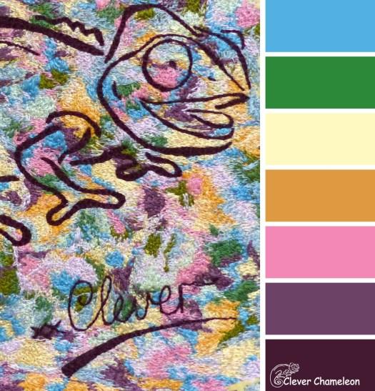 Clever Chameleon Threads color board at Clever Chameleon