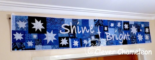 Shine Bright inspirational wall quilt at Clever Chameleon