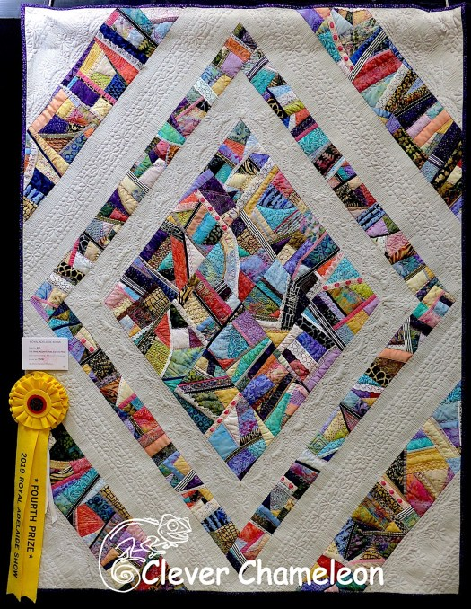 Crazed Diamonds Victoriana tribute quilt by Dione Gardner-Stephen of Clever Chameleon