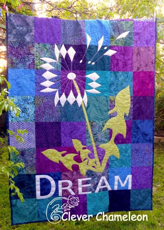 Dream dandelion quilt by Dione Gardner-Stephen at Clever Chameleon