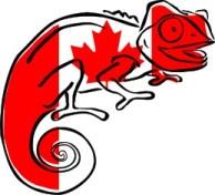 Canadian flag Clever Chameleon