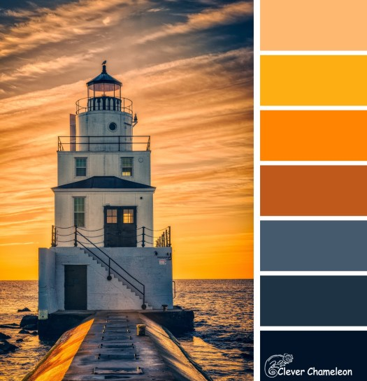 Lighthouse colour board at Clever Chameleon