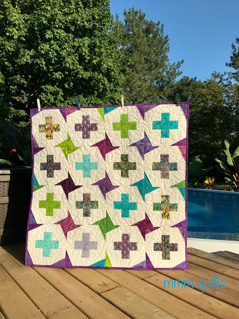 A positive spin quilt from mmm quilts