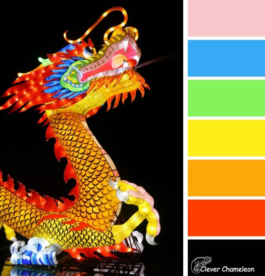 Here be Dragons colour board at Clever Chameleon