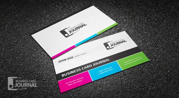 75 free business card templates that are stunning beautiful 34 clean and modern tricolor business card template flashek Choice Image