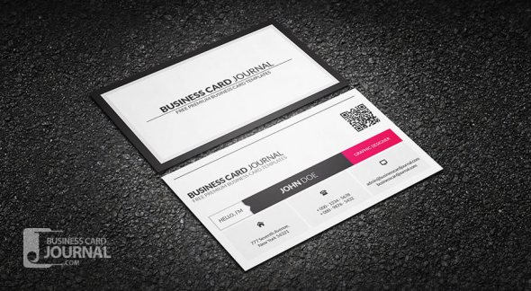 75 free business card templates that are stunning beautiful 38 metro style business card template with qr reheart Choice Image