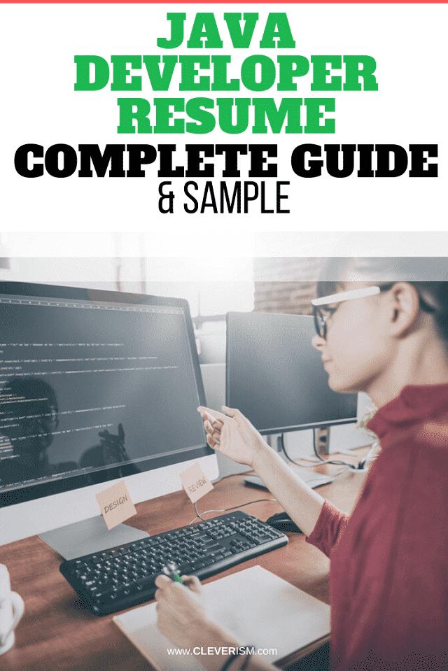 Java Developer Resume: Sample and Complete Guide
