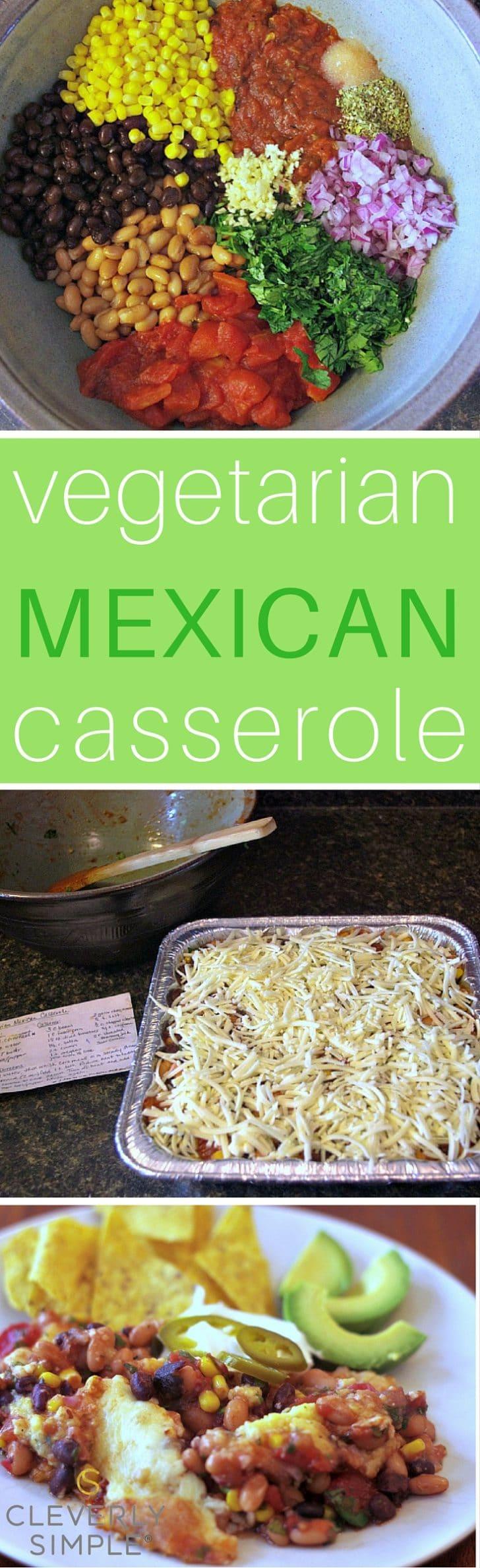 Vegetarian Mexican Casserole Freezer Friendly Cleverly