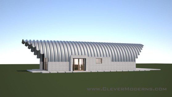 Clever Moderns Quonset Hut House Preliminary Design