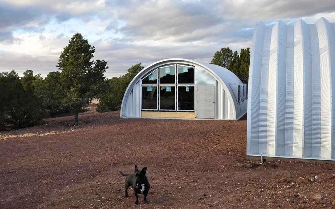 Quonset Hut House: End Wall Windows Completed