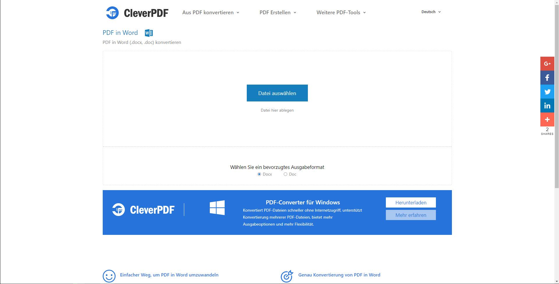 Pdf In Word Umwandeln Online Kostenlos Cleverpdf Com