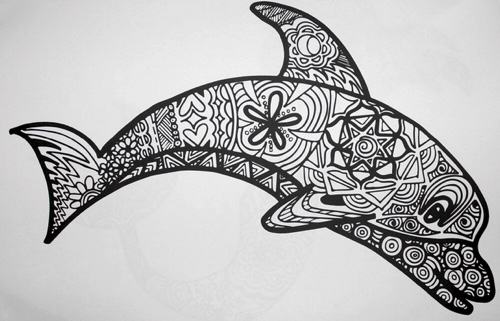 adult coloring book ocean animal patterns - Coloring Book Animals