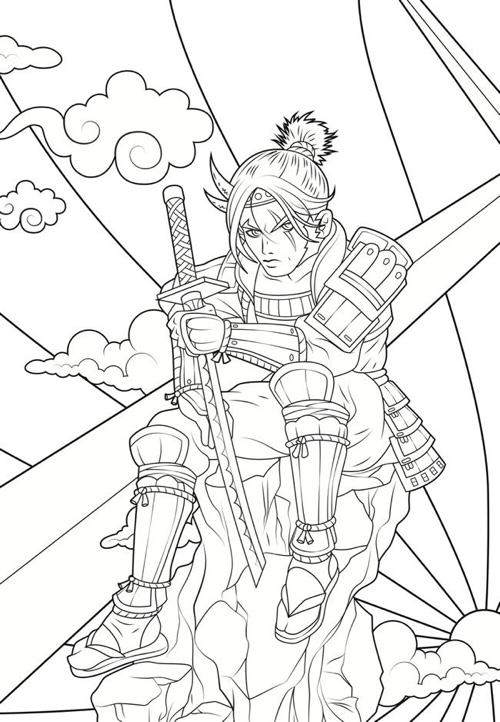 creative haven manga coloring book creative haven coloring books - Manga Coloring Book