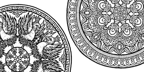 Dover Mystical Mandalas Coloring Books - Worksheet & Coloring Pages