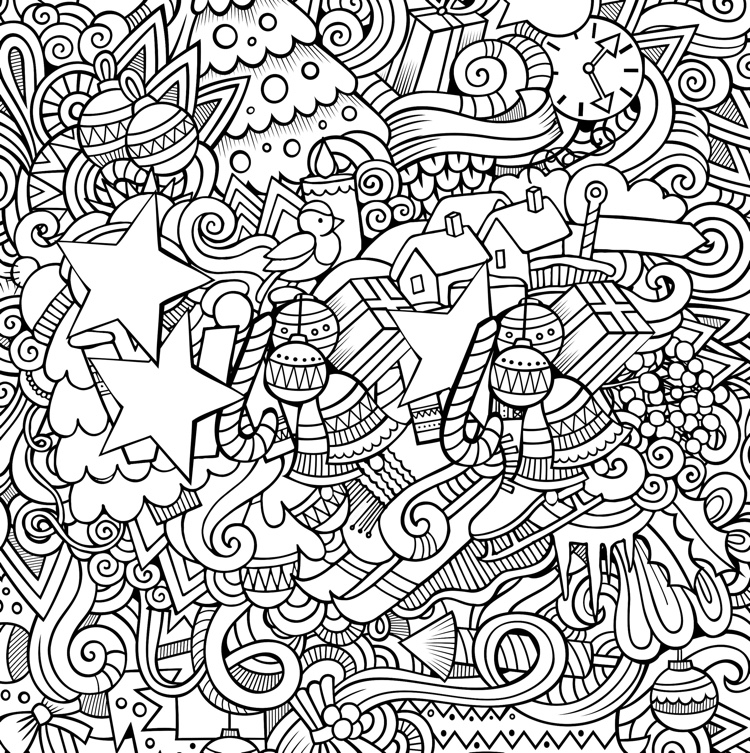 Christmas Designs Adult Coloring Book 31 Stress Relieving