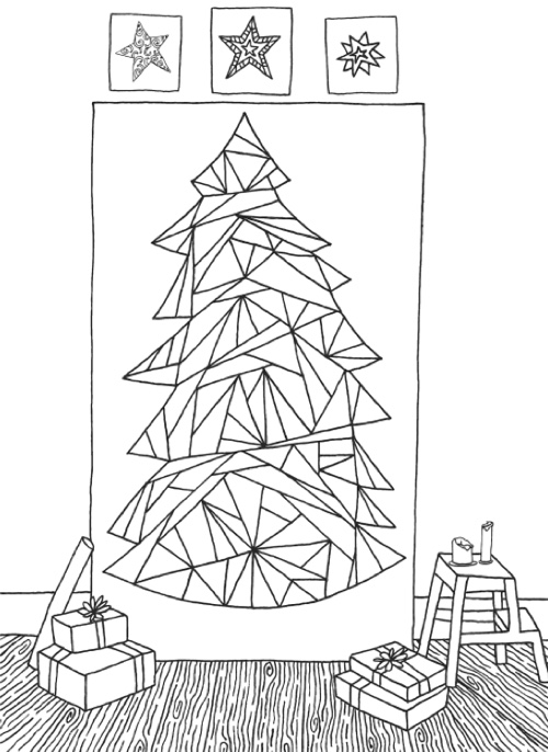 Creative Christmas Tree Coloring Book A Collection Of Classic Contemporary Trees To Color