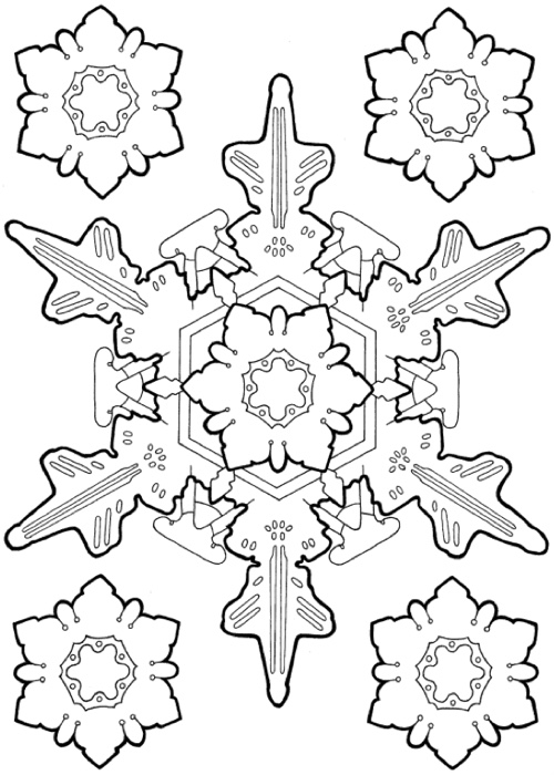 Creative Haven Snowflake Designs Coloring Book