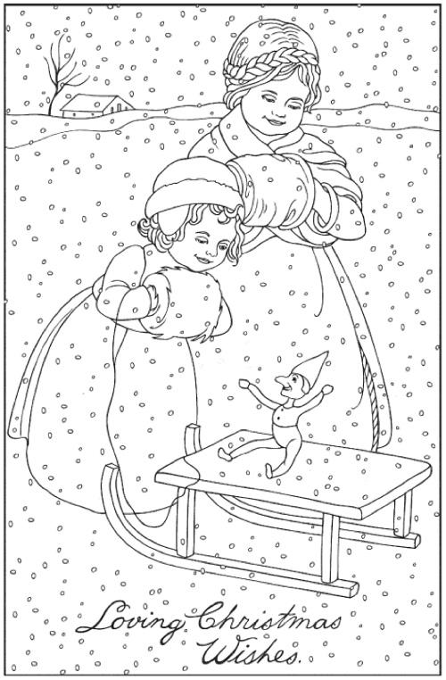Creative Haven Vintage Christmas Greetings Coloring Book