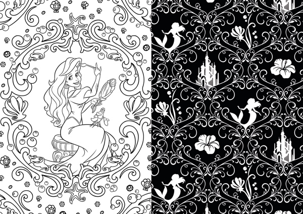 Disney Princesses Coloring Book