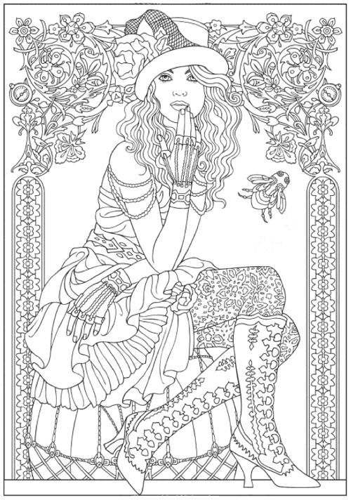 creative haven steampunk fashions coloring book creative haven coloring books - Creative Haven Coloring Books
