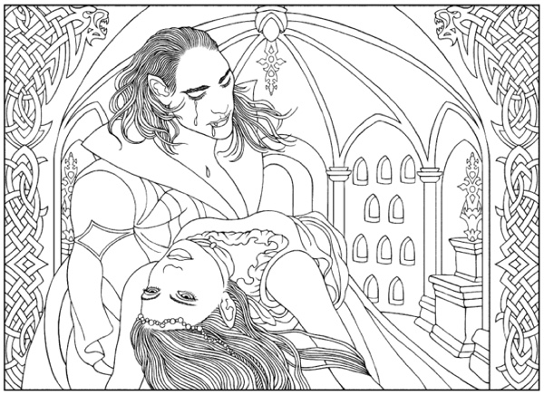 Vampires Coloring Book Dover Books