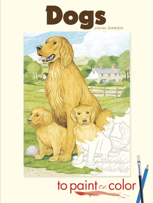 Dogs to Paint or Color (Dover Art Coloring Book)
