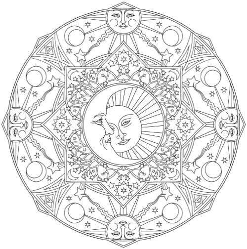 Mandala Coloring Books 20 Of The Best Coloring Books For Sun Moon Mandala Coloring