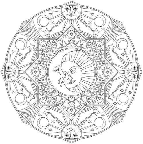Creative Haven Celestial Mandalas Coloring Book
