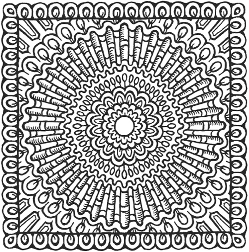 square mandala coloring pages - photo#26