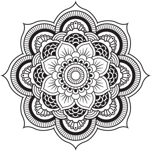 mandala designs adult coloring book - Pattern Coloring Books
