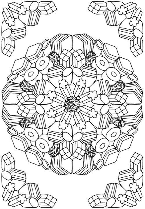 Candy Kaleidoscope An Adult Coloring Book