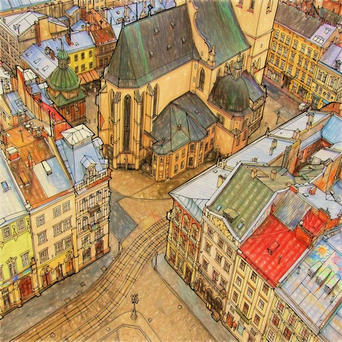 Lviv Ukraine A Page From Fantastic Structures By Steve McDonald