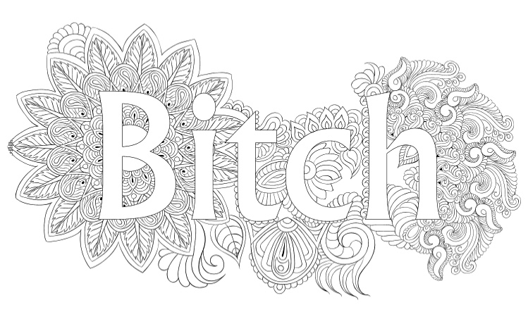 Swear Words Coloring Book Pages