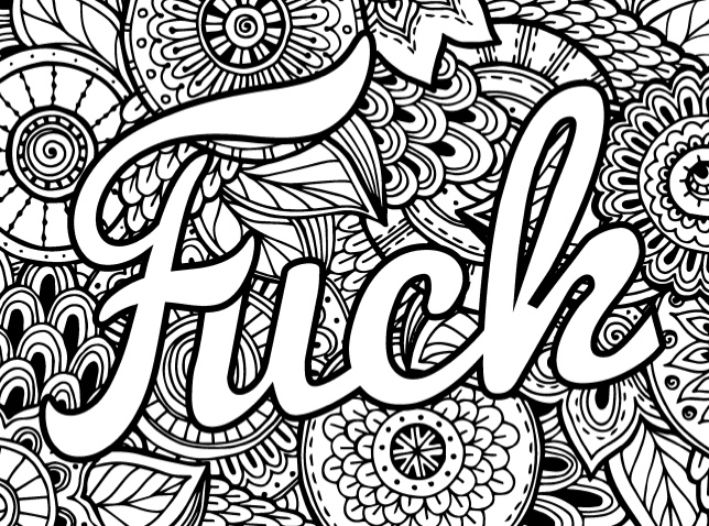 adult coloring pages swear words Best Swear Word Coloring Books + a Giveaway!   Cleverpedia adult coloring pages swear words