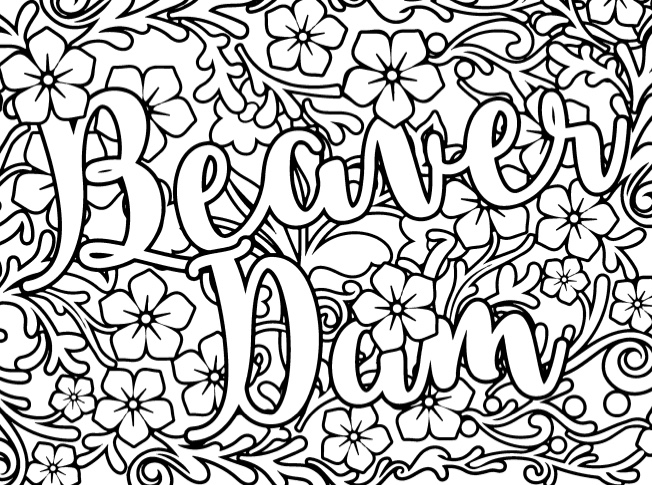 Sweary Coloring Book A Beautiful Adult With Relaxing Swear Words To Calm Your