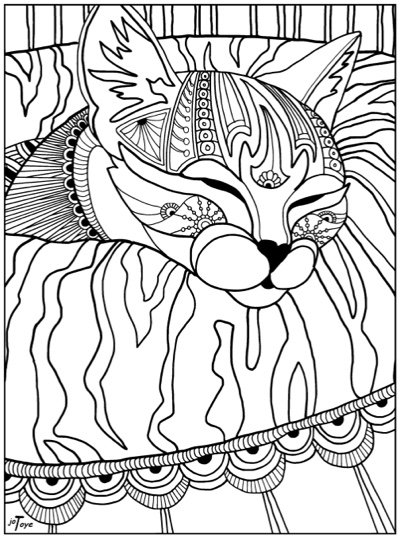 Cat-a-Doodles: Adult Coloring Book