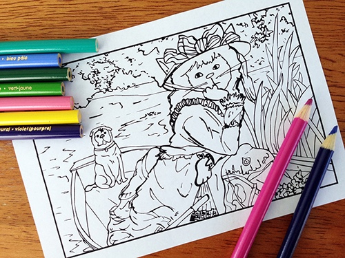 Catsterpieces A Feline Themed Fine Art Coloring Book
