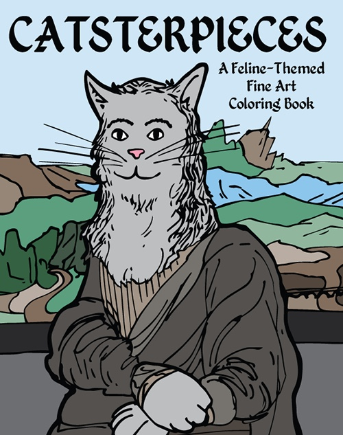 Catsterpieces: A Feline-Themed Fine Art Coloring Book